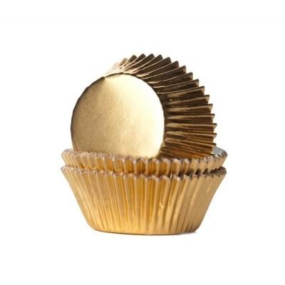 Mini forma brigadeiro Dourado metálico 36x