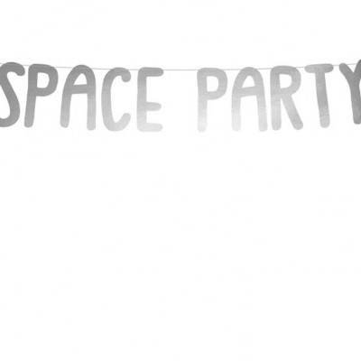 "Grinalda ""SPACE PARTY"" prateada"