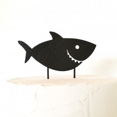 Topo de bolo Tubarão