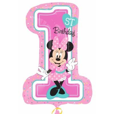 balão foil minnie primeiro aniversário