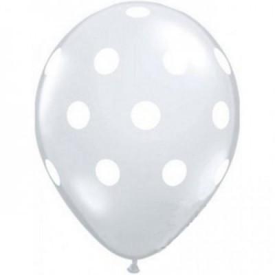 """Balões Bolinhas 12"""" transparente"""
