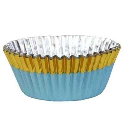 Forma Cupcake Azul/Ouro