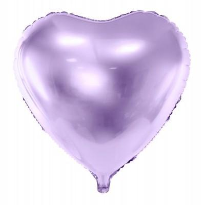 Balão coração lilás 61cm