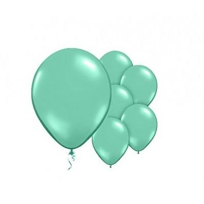 Balão verde menta metalizado