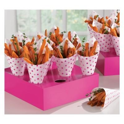 bandejas de cones rosa