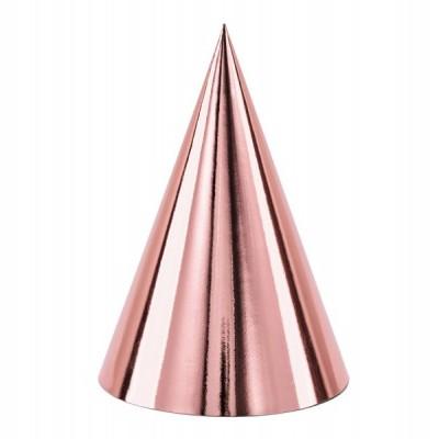 6 chapéus de festa rose gold