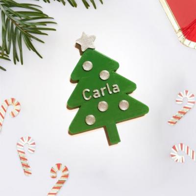 Marcador de lugar Arvore Natal personalizado