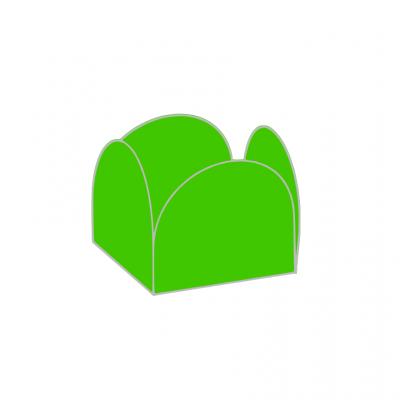 Conj. 24 formas brigadeiro Verde médio