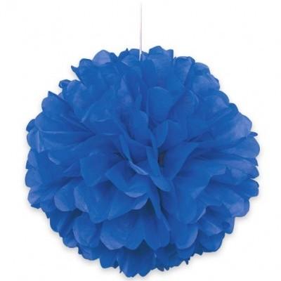 1 x Pompom Azul escuro