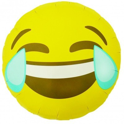 Emoji Crying Laughing Round