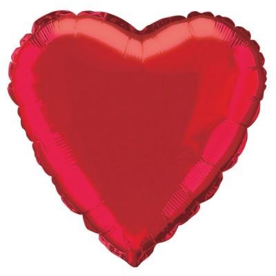 Balão Coração Vermelho  46cm