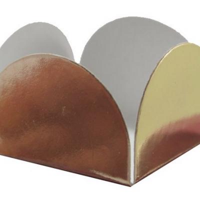Forma brigadeiro metalizado ouro 24 unidades