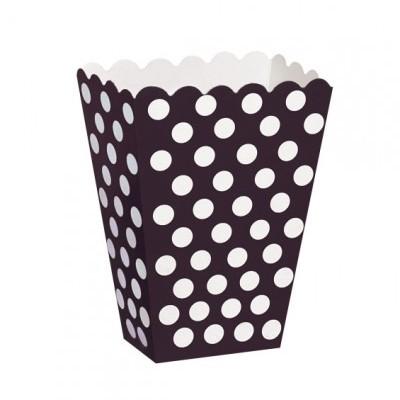 Caixas de pipocas preto bolas