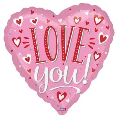 """Balão coração """"Love You"""""""