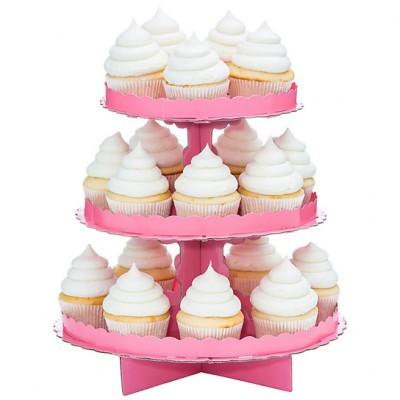 Stand Cupcakes Rosa Bébé