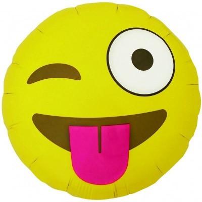 Emoji Winking Round