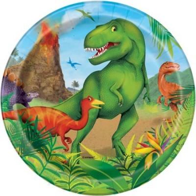 8 pratos dinossauro