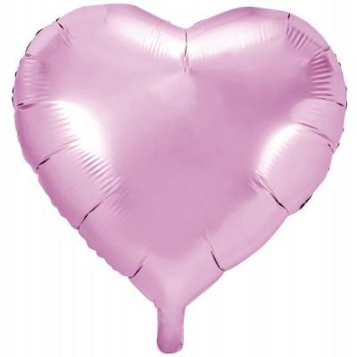 Balão coração rosa