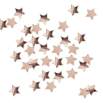 Confettis estrela rose gold