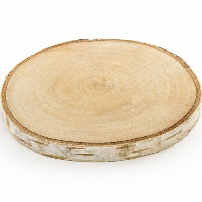 Rodela de madeira 10cm