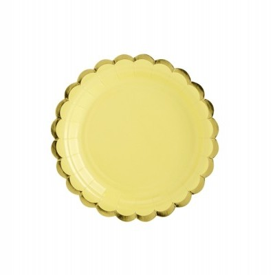 6 Pratos - amarelo e dourado