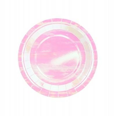 6 Pratos - iridescente 18cm