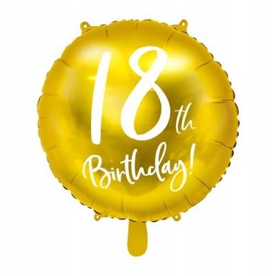 Balão foil 18th birthday ouro