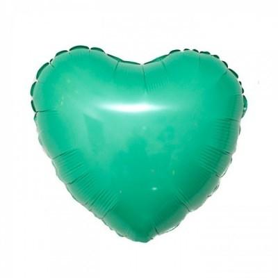 Balão foil coração verde menta