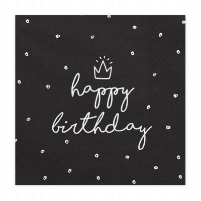 20x Guardanapos Happy Birthday