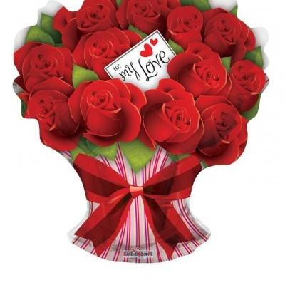 Balão Bouquet de Rosas