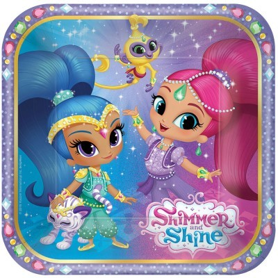 Pratos 20 cm shimmer and shine