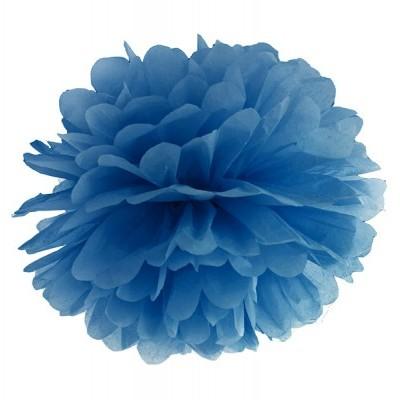 Pompom 40cm Azul escuro