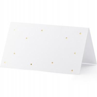 10 marcadores brancos bolas ouro
