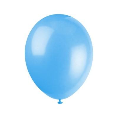 "Balão latex 12"" azul bebé"