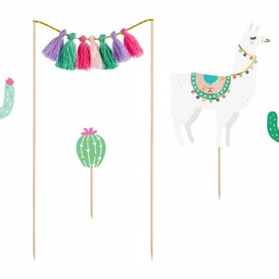 Cake toppers llamas