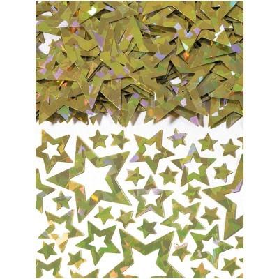 Confetti estrelas ouro iridiscente
