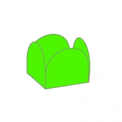 Conj. 24 formas brigadeiro Verde lima