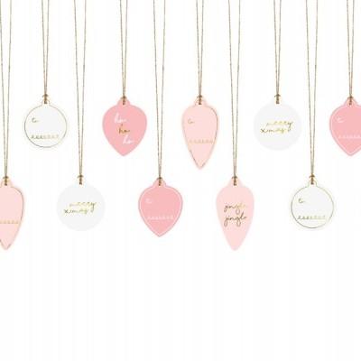 x12 Etiquetas de presentes - bolas de Natal