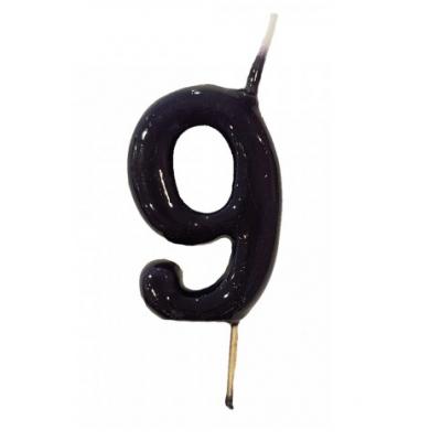 Vela Nº Preta -6cm