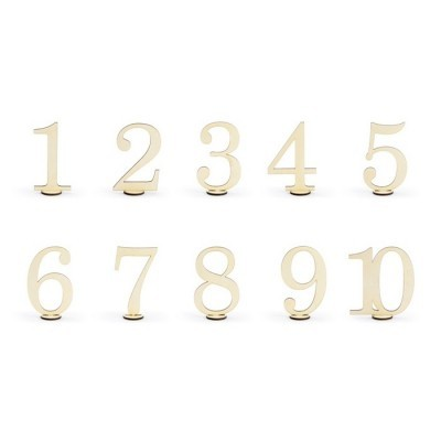Números Marcadores de mesa