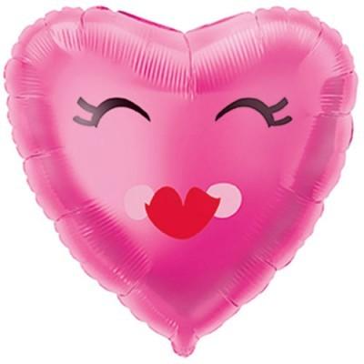 """Balão coração """"Pestanas"""""""