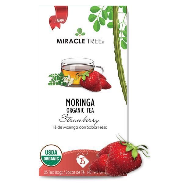 Chã de Moringa e Morango Bio 25 saq.