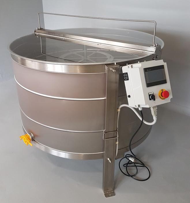 Extractor Inox Eléctrico Radial 54 quadros c/ Temporizador Digital tipo Industrial