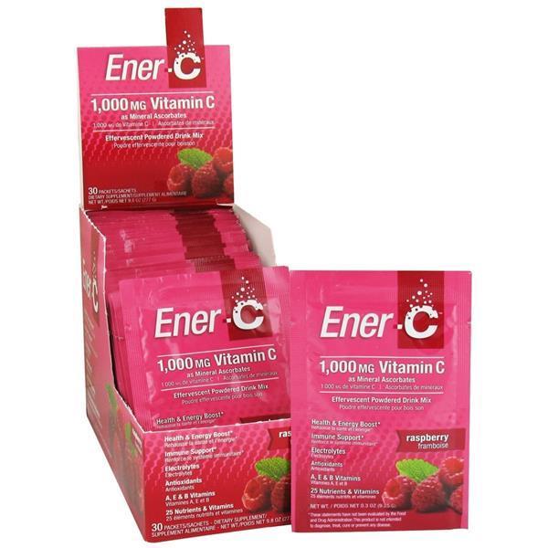 Ener-C Vitamina C Framboesa Efervescente - Suplemento Alimentar