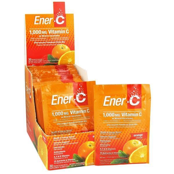 Ener-C Vitamina C Laranja Efervescente - Suplemento Alimentar