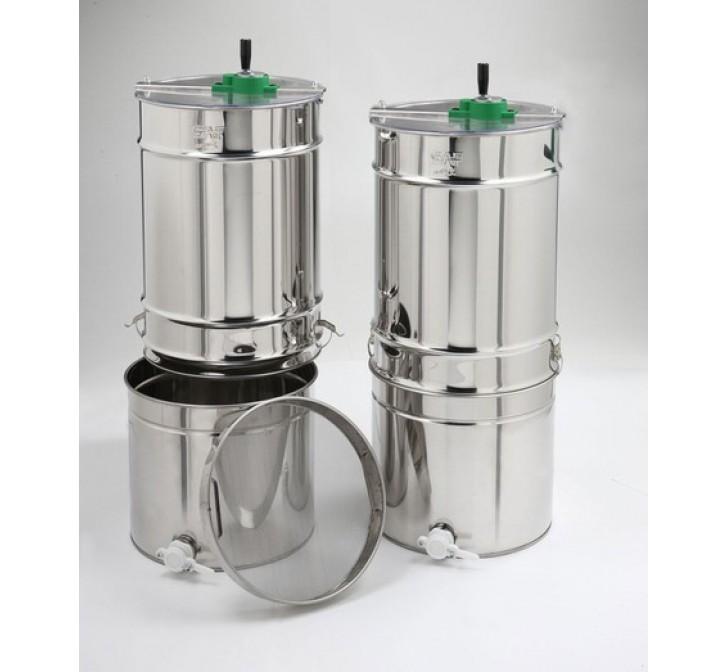 Extractor Inox Manual Tangencial 2/4 quadros Com Filtro e Bidão (económico)