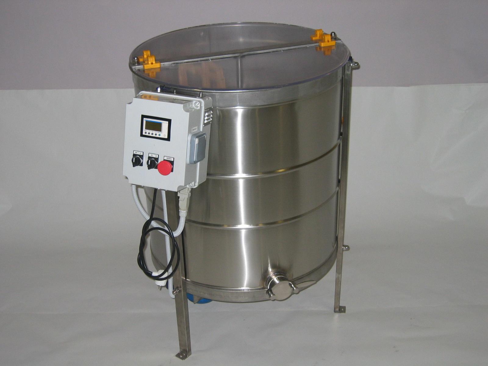 Extractor Inox Eléctrico Radial 20 quadros c/ Temporizador Digital tipo Industrial