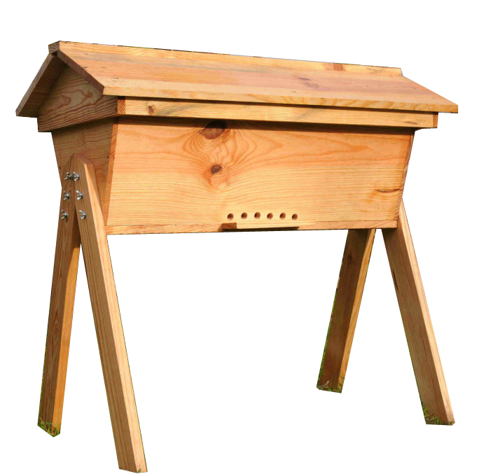 Colmeia Top Bar em madeira c/ pernas
