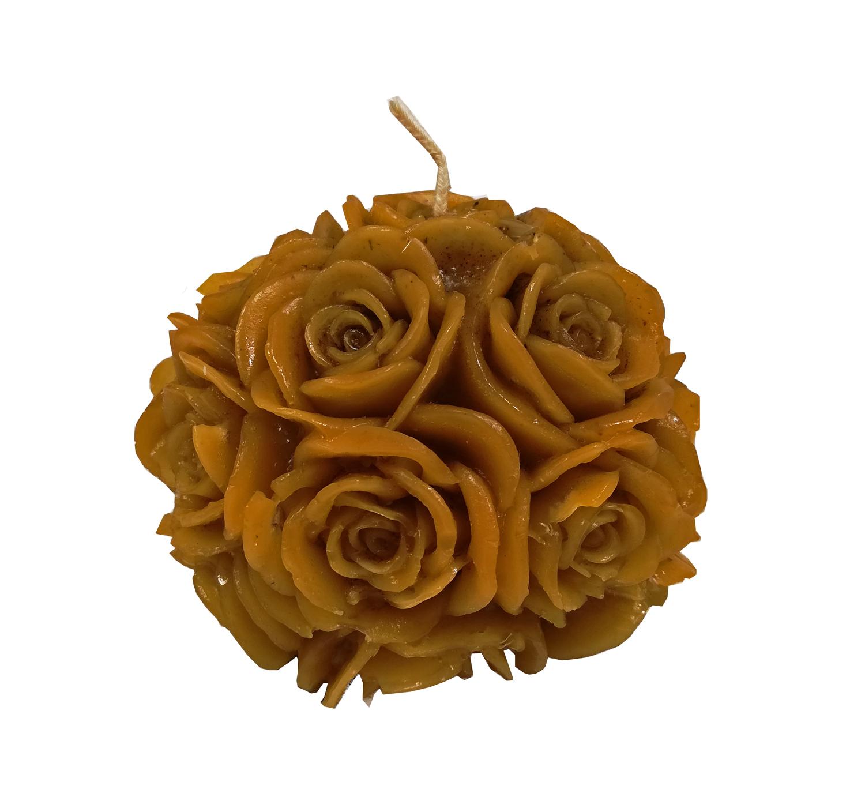 Vela Modelo Flores Redondo 9cm