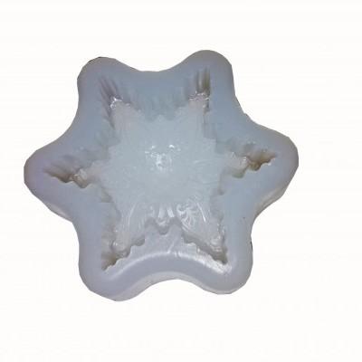 Molde Silicone modelo floco neve (para velas ou sabonetes)